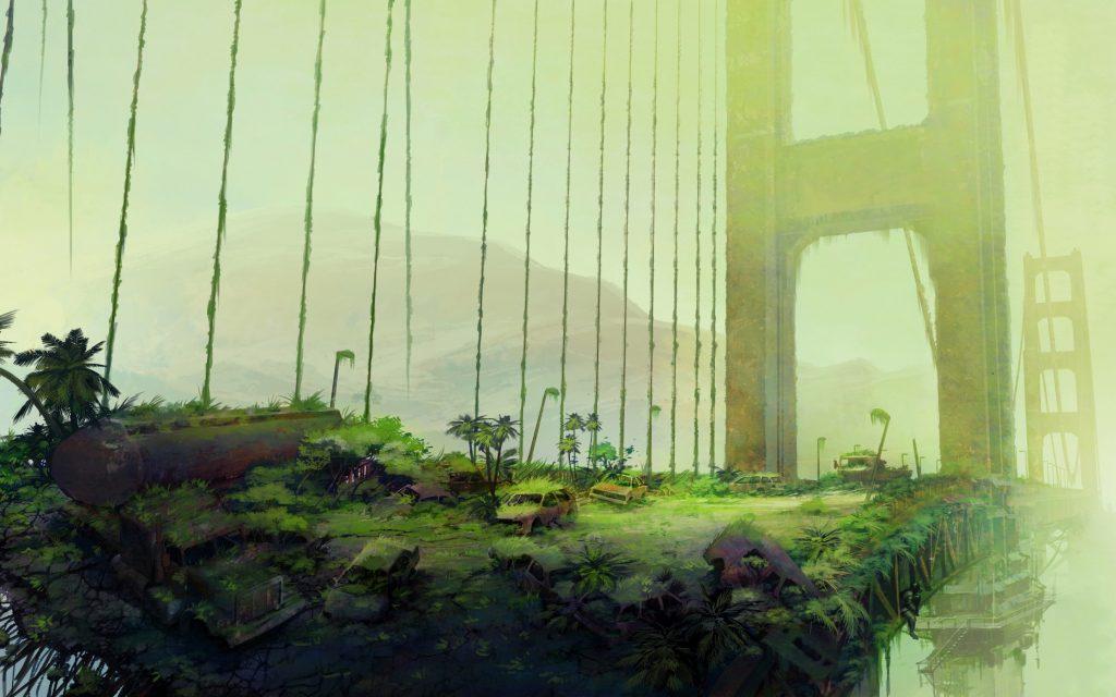 نمایی از پل طلایی نیویورک در زمین (موزه تاریخ تمدن انسانی) - Mohsen Elhamian - سایت شخصی محسن الهامیان